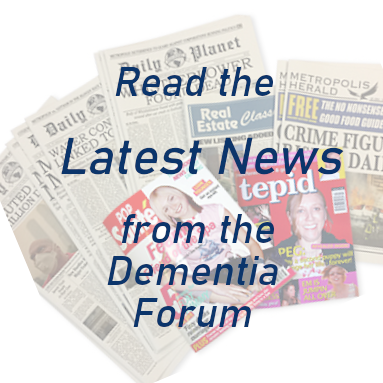 Read the latest news from the Dementa forum